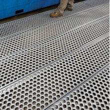 Perf-O Grip Safety Metal Grating Galvanized Steel Bar Grating Walkway Platform