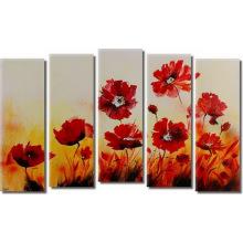 Pintura a óleo fresca original da flor fresca do projeto
