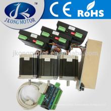 3 axis CNC NEMA23 stepper motor kits 250 oz.in