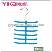 flocked tie hanger with 12 racks