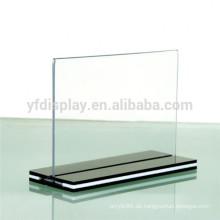Klare Acryl-Tischplatte-Zeichen-Halter-Bilderrahmen-Anzeigen