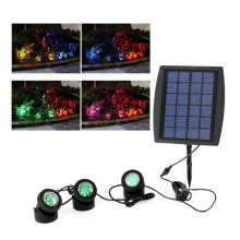 Luz solar LED con color RGB
