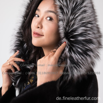 Winter Reversible Nerzpelzmantel für Frauen