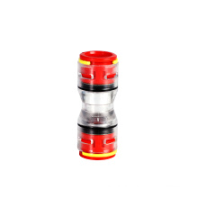Easy observe resistant coupling multi size easy installation micro-ducts straight fitting