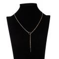Collar de la aleación del cinc de la venta de la manera de Europa de las mujeres simples del diseño de las mujeres simples del collar plateado