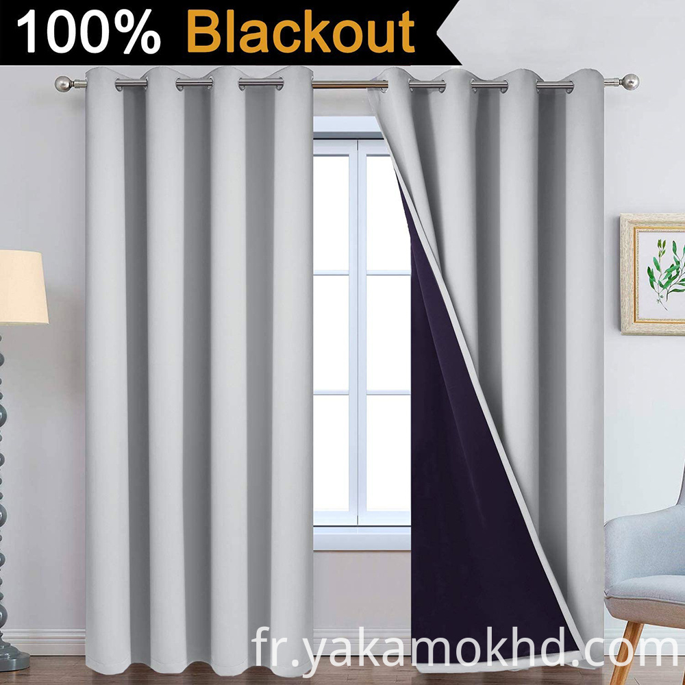 84 Light Grey Blackout Curtains