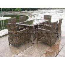 Mesas de comedor de Rattan mimbre al aire libre