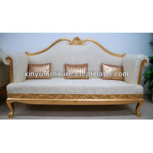 Royal luxury style wedding sofa solid wood carving/Gold & White XY0366