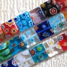 Mão de jóias DIY vidro soprado misturado contas millefiori