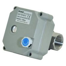 NSF61-G Válvula de esfera de água de aço inoxidável motorizada elétrica de 2 maneiras com operação manual (T20-S2-B)