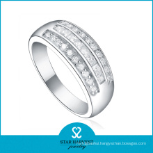 Chunk Cubic Zircon 925 Sterling Silver Ring in Stock (R-0350)