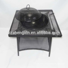 Black BBQ Grill, Metal Barbecue Oven