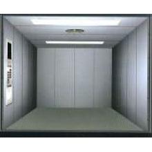 Opposite door car elevator with machine room