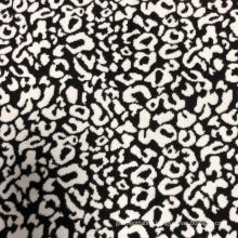 Jacquard 90% polyester 10% spandex knitted fabric