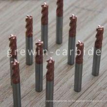 HRC 45 50 60 2 Flöten Kugelnase Hartmetall-Endfräser