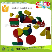 Wooden Game Toys Preschool Educational Blocks Fraction Puzzle Blocks