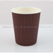 Tasse en papier moulant à l'élastique à usage industriel pour café chaud