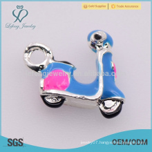 High quality zinc alloy mens blue motorcycle charm jewelry for sale