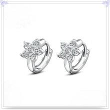 Pendiente de cristal de plata de joyería 925 joyas de plata esterlina (se036)