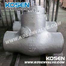 Válvulas de retenção do selo da pressão da extremidade do Bw do aço de molde (H64)