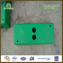 with Concrete Plastic Temporary Fence Base