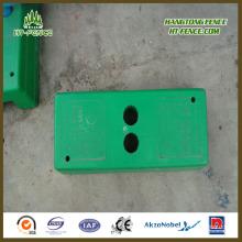 Com base de vedação temporária de plástico de concreto