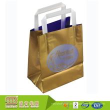 Bolsa de plástico de protección ambiental auditada por la fábrica BSCI con logotipo propio personalizado impreso