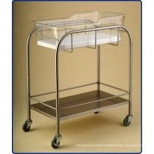 Stainless Steel Hospital Bassinet with Shelf (THR-B001)