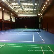 Крытый профессиональный теннис ПВХ спортивный пол с экспортным стандартом