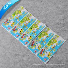 Prix d'usine de nouvelles étiquettes de conception autocollant de papier de gomme