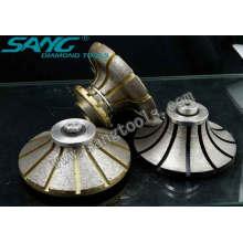 Roue profilée de diamant pour le traitement des pierres (SA-045)