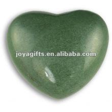 Puffy piedra en forma de corazón Aventurine 35MM