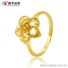 Venda quente moda banhado a ouro flor jóias anel de dedo em níquel livre para as mulheres -10290