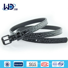 2015 China wholesale ladies black PU belts