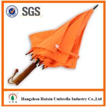 Высокое качество продукции оранжевый цвет рекламных автоматические деревянные зонтик большой размер