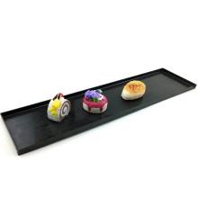 Прямоугольный лоток для посуды из пластика с одноразовым лотком