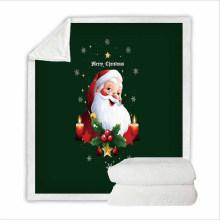 Super Soft Sweatshirt Cover Blanket Bedding Set for Women with 3D Digital Printing Santa Claus