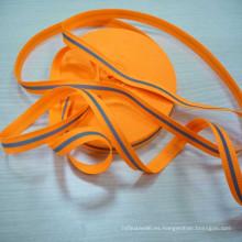 alto poliester reflectante naranja alta visibilidad con cinta de película reflexiva de transferencia de calor
