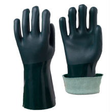 Anti-slip Green PVC coated Gloves