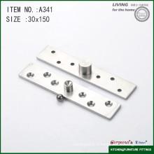 Charnière pivotante de la porte centrale 304 en acier inoxydable pour porte vitrée A341 150 * 30