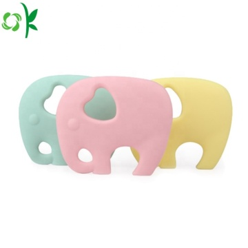 BPA Free Elephant Cute Chewable Silicone Baby Teether