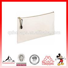 Высокое качество мода молнии холст сумка с логотипом подгонять