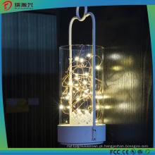 Luz amarela da corda de fio do cobre do diodo emissor de luz da cor