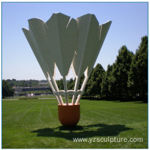 Outdoor Stainless Steel Badminton Sculpture For Sale