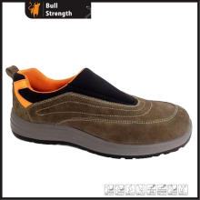Low Cut PU Injection Suede Leather Footwear Without Lace (SN5426)
