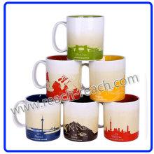 Ceramic Mug, City Coffee Mug (R-3064)