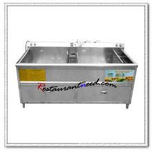 F047 340L Double Tanks Lavadora comercial de frutas y verduras