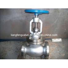 Válvula de globo de extremo de brida de acero inoxidable