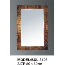 Espejo de baño de vidrio de plata de 5 mm de espesor (BDL-3108)