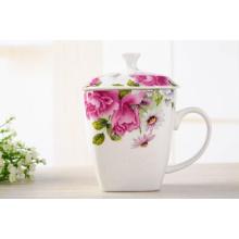 Фарфоровая чашка с цветной печатью для подарков